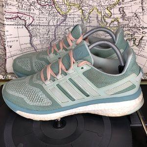 Women Adidas Energy Boost Tech fit Running Sz 9.5